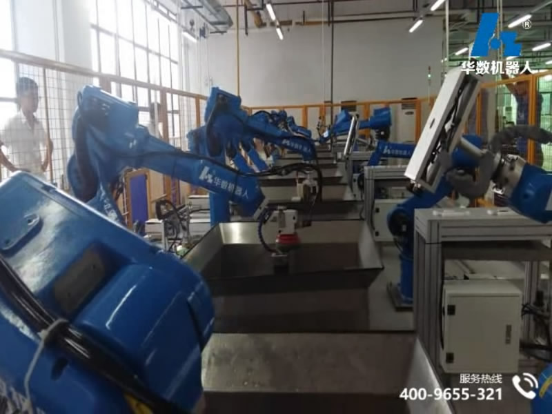video of mobile phone polishing production line