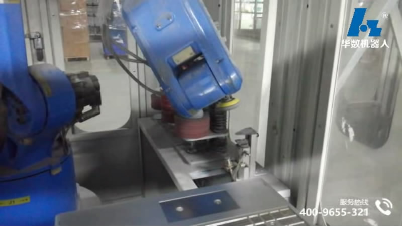 Automatic electric sandpaper polishing production line