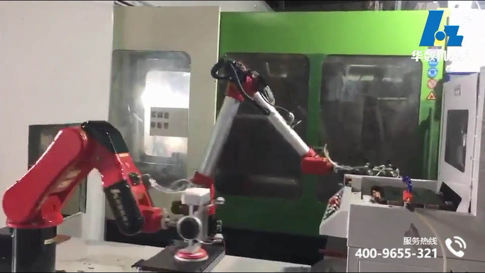 video of laptop plastic shell polishing loading and unloading(BR6 Bi-spin Robot)