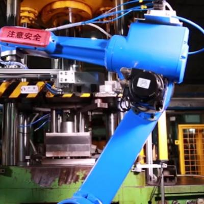 video of Kettle stamping parts automatic loading and unloading