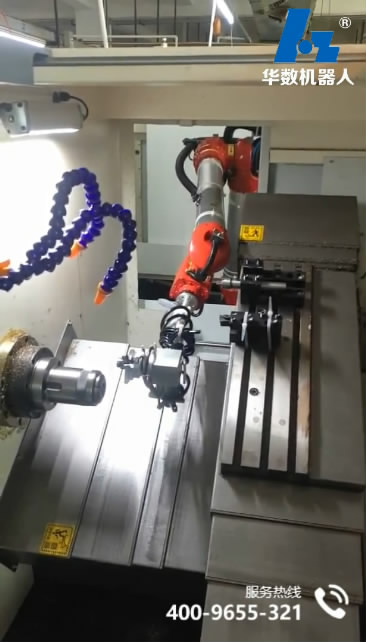 BR606 Bi-spin Robot machine loading and unloading