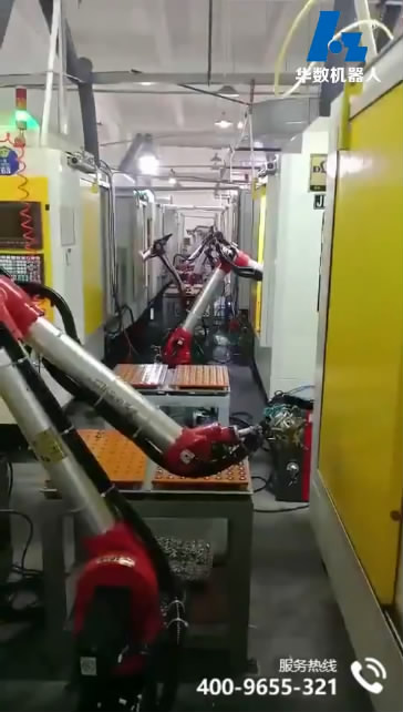 Bi-spin Robot machine loading and unloading