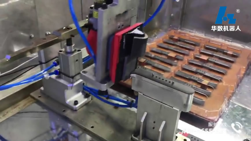 video of Blow molding loading and unloading